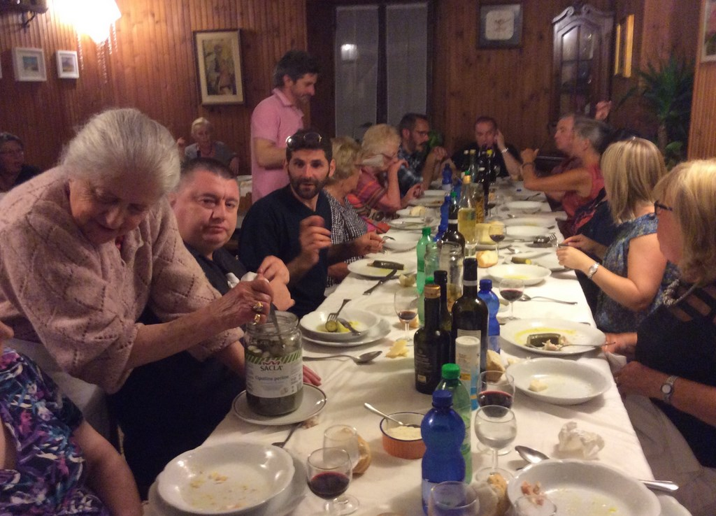 Group out for meal at 'Dina's Trattoria'