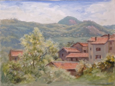 Painting of Bedogno by Eleanor
