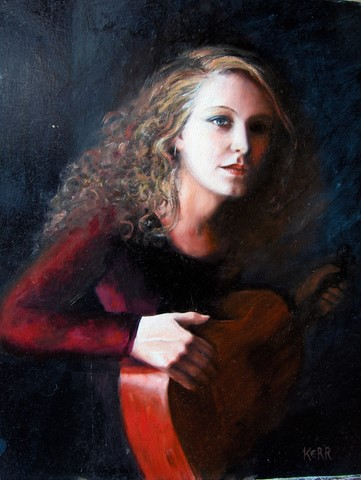 'Girl with Guitar' by Pheona