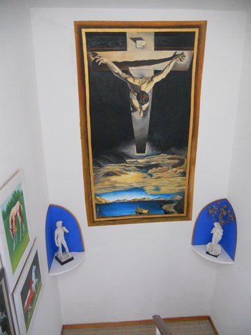 copy of Salvador Dali's Christ on the Cross