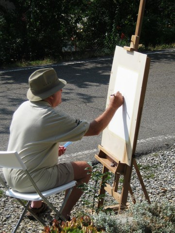 Painting in the sunshine