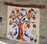 mural of pomegranate tree