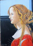copy of Botticelli painting